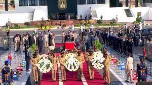 جنازة عسكرية مرعبة لـ جيهان السادات زوجة رئيس مصر