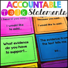 Accountable Talk Anchor Chart How To Empower Primary Students Using Accountable Talk