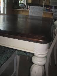 Refinish Kitchen Table Top Refinishing A Veneer Tablea Tutorial Fabulously Flawed