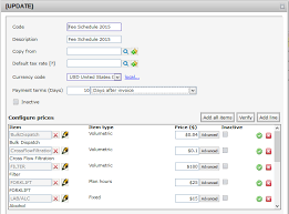 Configuring Price Lists | Vintrace Help