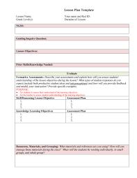 Free Printable Lesson Plan Template Lesson Plan Template Free Printable For Homeschool Toddlers