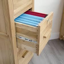 Lockable Bedroom Furniture Arden Solid Oak Furniture Lockable Three Drawer Filing Cabinet