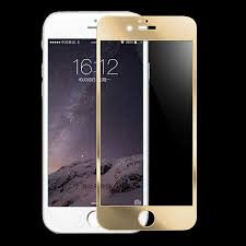 iphone 7 gold front. front mirror effect colour tempered glass screen protector for iphone 6- 7 iphone gold c