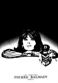 <b>Miss Balmain</b> perfume advertisement, 1972. Illustration by Rene ...