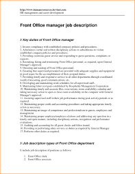 Hotel Front Desk Job Duties Resume Ayresmarcus
