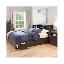 modern king bed frame. Plain Bed Platform Storage Bed King Size Drawers Frame Bookcase Headboard Modern Wood  New To R