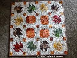 Pumpkins and Leaves Quilts for the Blogger's Quilt Festival | From ... & Hop over to the Fall 2017 edition of the Blogger's Quilt Festival to see  more quilts! There are prizes too, so if you can share about your competed  quilt, ... Adamdwight.com