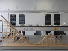 picture of wooden roller coaster model engels english