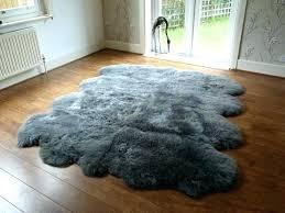 large faux sheepskin rugs cream fur rug small canada