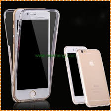 Two Sided Crystal Soft Tpu 360 Degrees Full Cover Phone Case For