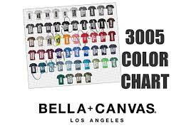 Bella Color Chart Bella 3005 V Neck T Shirt Color Chart