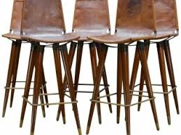 1960s midcentury leather sling iron bar stools from a unique collection of antique and modern leather bar stools u2