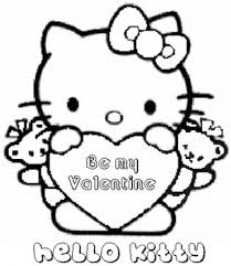 Free Valentine Coloring Pages. girl with heart in love coloring ...