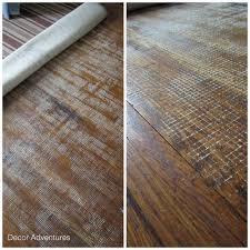 floor damaged by rug backing