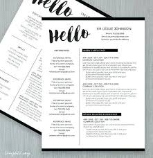 One Page Resume Format Two Page Resumes One Page Resume Or Two Page ...