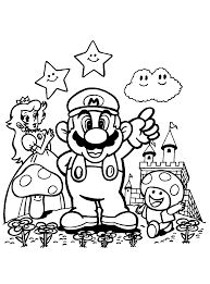 Coloring Pages Super Mario Brothers Coloring Pages To Print For