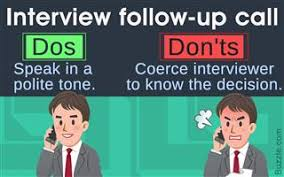 follow up interview call job interview follow up buzzle com