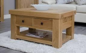 bordeaux white oak 2 drawer coffee table