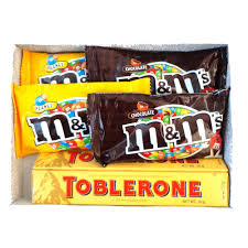 birthday gift pack with m m and toblerone chocolate at best insity