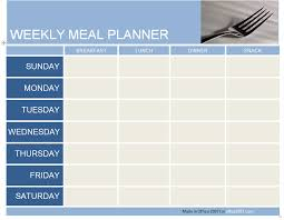 Weekly Menu maisdeumbilhao passamfome: Meal Planner Weekly Menu Planner Template