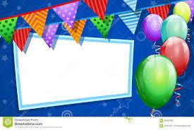 Blank Birthday Banner Birthday Card With Blank Banner Stock Illustration