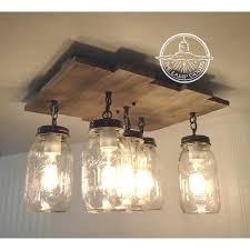 mason jar ceiling lights mason jar flush mount ceiling light with reclaimed wood pendant a liked mason jar ceiling lights