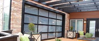 glass garage doors clopay avante