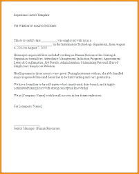 Work Experience Letter Format In Doc Fresh 6 Experience Certificate