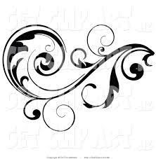 Black Scroll Design Clip Art Clip Art Of A Black Leafy Vine Design Accent With Scrolling