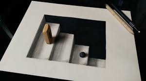 how to draw 3d stairs with pencils or markers i hope you like it and paper drawingpainting