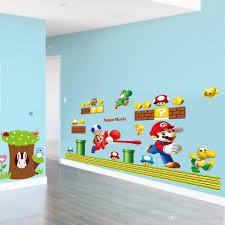 Mario Bros Bedroom Decor Hot Sale New Cartoon Wall Sticker Super Mario Bros Vinyl Removable