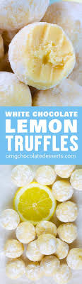 these easy lemon truffles with white chocolate will melt in your mouth