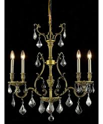 elegant lighting 9604d26ab ss monarch 4 light mini chandelier in antique bronze with clear