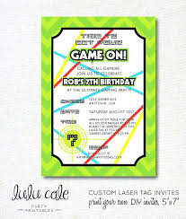 Free Laser Tag Invitation Template Laser Tag Birthday Party Invitation Wording Invitations Template