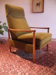 mid century recliner. Large Mid-Century Recliner Chair With High Backrest 10 Mid Century