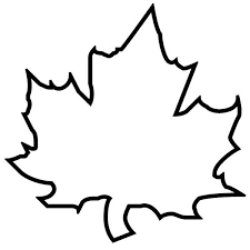 Small Picture Maple Autumn Leaf Outline Coloring Page The kids will have fun