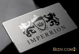 Steel Business Cards Mirror Metal Business Cards Biziv Promotional Products