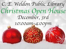 Christmas Open House — C. E. Weldon Public Library