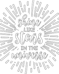 Coloring Pages For Adults Shine Like Stars In The Universe Free