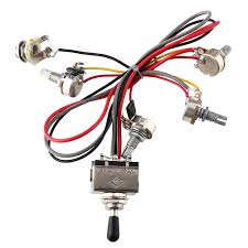 wiring toggle switches reviews online shopping wiring toggle wiring harness 2v 2t 3 way toggle switch 500k pots for guitar dual humbucker replacement