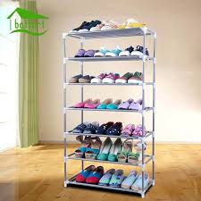 diy sunglasses organizer shoe rack assembled plastic multiple layers shoes shelf storage stand holder keep room neat door space saving home improvement