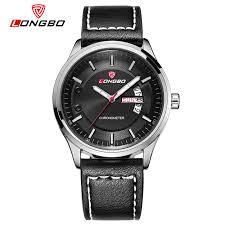 mens big watches promotion shop for promotional mens big watches longbo brand new fashion military leather wristwatches casual big dial men watches quartz watches calendar waterproof 80213