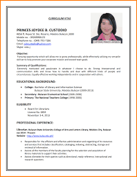 Simple Job Resume Examples Free Resume Example And Writing Download