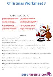Christmas Adjectives Worksheet – Festival Collections