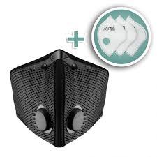 Large M2 Mesh Face Mask With Bonus 3 Pack Filters Black