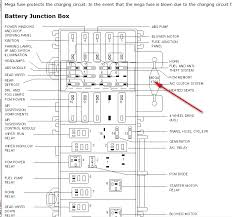 where is the mega fuse for ford contour also where is