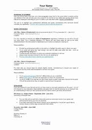 Resume Format Examples Elegant 20 Resume For Self Employed ...