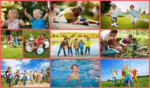 outdoor activities collage.  Outdoor In The Last Two Decades Kids Have Been Spending More And Time  Indoors With As Little 30 Minutes Of Outdoor Playtime With Outdoor Activities Collage O