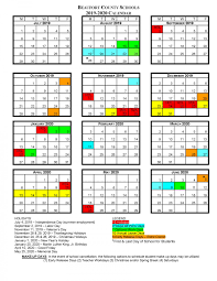 Printable School Year Calendars Bcs School Calendars Beaufort County Schools