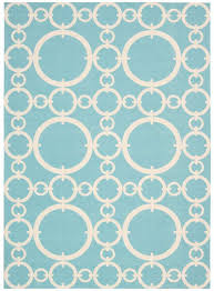 waverly sun shade connected aquamarine indoor outdoor rug by nourison 5 3 x 7 5
